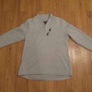 GREY PULLOVER with HORN IMITATION BUTTONS